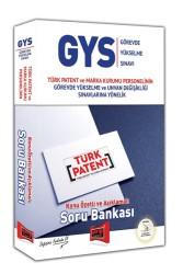 Yargı Yayınları - GYS TÜRK PATENT VE MARKA KURUMU KONU SORU
