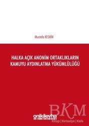 On İki Levha Yayınları - Halka Açık Anonim Ortaklıkların Kamuyu Aydınlatma Yükümlülüğü