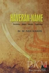 Kesit Yayınları - Haveran-Name