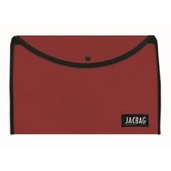 Jacbag - Jacbag Çıtçıtlı A4 Boyutunda Dosya Jac-37 Kırmızı