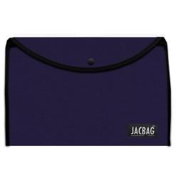 Jacbag - Jacbag Çıtçıtlı A4 Boyutunda Dosya Jac-37 Lacivert