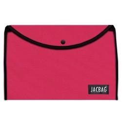 Jacbag - Jacbag Çıtçıtlı A4 Boyutunda Dosya Jac-37 Pembe