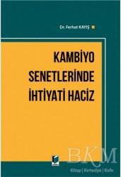 Adalet Yayınevi - Kambiyo Senetlerinde İhtiyati Haciz
