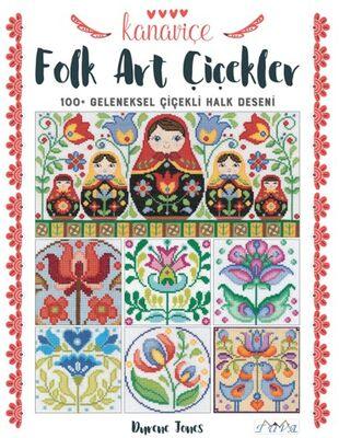 Kanaviçe Folk Art Çiçekler