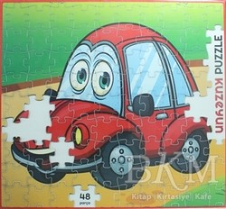 Kuzey Yayınları - Kırmızı Arabam - 48 Parça Puzzle