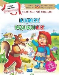 Parıltı Yayınları Boyama ve Çıkartma Kitapları - Kırmızı Başlıklı Kız - Çıkartmalı Peri Masalları