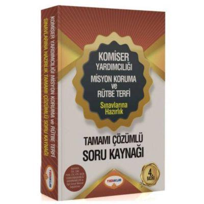 Komiser Yardımcılığı Misyon Koruma ve Rütbe Terfi Sınavlarına Hazırlık Tamamı Çözümlü Soru Kaynağı Yediiklim Yayınları