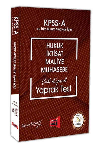 KPSS A ÇEK KOPAR YAPRAK TEST 2018