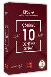 Yargı Yayınları - KPSS A FAS.FAS.ÇÖZ.10 DENEME SINAVI 2018