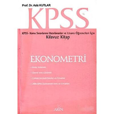 KPSS Ekonometri Kılavuz Kitap