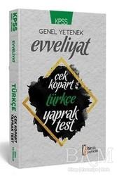 İSEM Yayıncılık - KPSS Evveliyat Türkçe Çek Kopart Yaprak Test