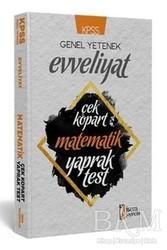 İSEM Yayıncılık - KPSS Genel Yetenek Evveliyat Matematik Çek Kopart Yaprak Test