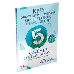 Murat Yayınları - KPSS GK-GY Ortaöğretim Önlisans Çözümlü 5 Deneme Sınavı Murat Yayınları