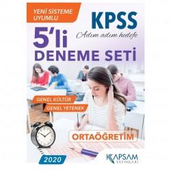 Kapsam Yayınları - KPSS GY - GK 5li Deneme Seti Kapsam Yayınları