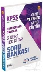 Murat Yayınları - KPSS Kitapları - KPSS Ortaöğretim Ön Lisans 5 Ders Tek Kitap Soru Bankası (1556)