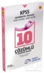 Murat Yayınları - KPSS Kitapları - KPSS Ortaöğretim-Önlisans Genel Yetenek Genel Kültür 10 Çözümlü Deneme Sınavı (1565)