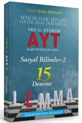 Yargı Yayınları - LEMMA YKS 2.ORT.AYT SOSYAL 2 - 15 DENEME