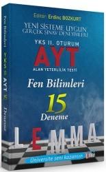 Yargı Yayınları - LEMMA YKS 2.OTR. AYT FEN BİLİMLERİ 15 DENEME