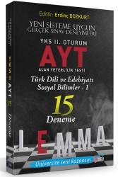 Yargı Yayınları - LEMMA YKS 2.OTR AYT T.DİLİ EDB. SOSYAL 15 DN