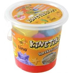 Lino - Lino Kinetik Kum Kırmızı 1000 Gr Kova 10 Adet Kalıp