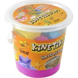 Lino - Lino Kinetik Kum Pembe 1000 Gr Kova 10 Adet Kalıp