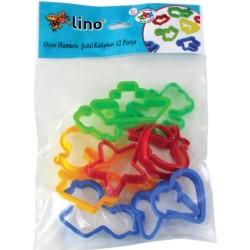 Lino - Lino Oyun Hamuru Şekil Kalıbı Seti 12 Parça