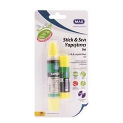 Mas - Mas Kartelada Stick+Sıvı Yapıştırıcı Seti