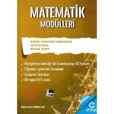 Matematik Modülleri Birinci Dereceden Denklemler Eşitsizlik Mutlak Değer ArtıNet Yayınları