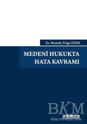 On İki Levha Yayınları - Medeni Hukukta Hata Kavramı
