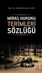 Fecr Yayınları - Ciltli Kitaplar - Miras Hukuku Terimleri Sözlüğü