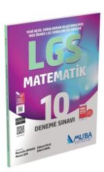 Muba Yayınları - Muba 8. Sınıf LGS Matematik 10 Deneme Sınavı