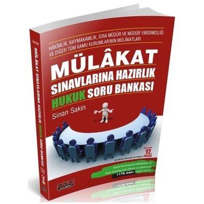 Mülakat Sınavlarına Hazırlık Hukuk Soru Bankası - Sinan Sakin 17. Baskı Savaş Yayınları