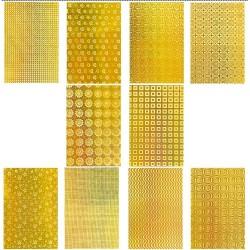 Nova Color - Nova Color Hologramli Karton 50x70 10lu Gold