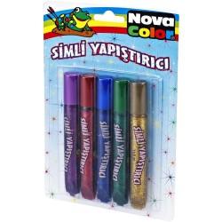 Nova Color - Nova Color Simli Yapıştırıcı 5li Blister
