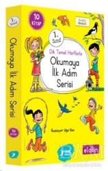 Yuva Yayınları - Yuva 1. Sınıf Dik Temel Harflerle Okumaya İlk Adım Serisi (Elakin) Yeni Ses Grupları (10 Kitap Takım)