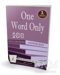 Pelikan Tıp Teknik Yayıncılık - One Word Only: 100 Cloze Tests With a Detailed Answer Key