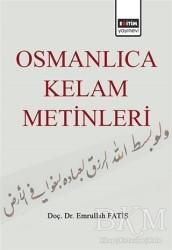 Eğitim Yayınevi - Ders Kitapları - Osmanlıca Kelam Metinleri