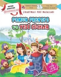 Parıltı Yayınları Boyama ve Çıkartma Kitapları - Pamuk Prenses ve Yedi Cüceler - Çıkartmalı Peri Masalları