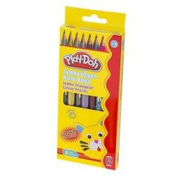 Play-Doh - Play-Doh Jumbo Kuru Boya 6 Renk Metalik 2 Renk Neon