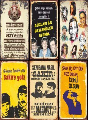 Retro Ahşap Poster Seti Yeşilçam 6lı