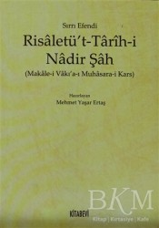 Kitabevi Yayınları - Risaletü't - Tarih-i Nadir Şah