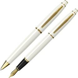 Scrikss - Scrikss 35 Dolma Kalem - Tükenmez Kalem Beyaz Altın