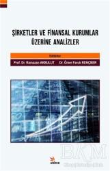Kriter Yayınları - Şirketler ve Finansal Kurumlar Üzerine Analizler
