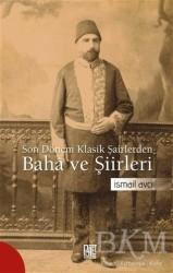 Palet Yayınları - Son Dönem Klasik Şairlerinden Baha ve Şiirleri