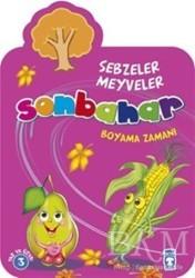 Sonbahar Sebzeler Meyveler Boyama Zamanı Bkm Kitap