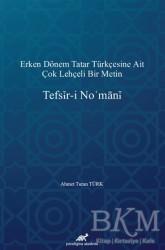 Paradigma Akademi Yayınları - Tefsir-i No'mani
