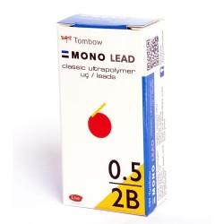 Tombow - Tombow Leader Uç 0.5mm 12uç-Tüp Kutulu 6ad 2b Mavi Tüp