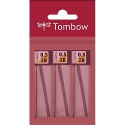 Tombow - Tombow Mono Lead Uç 0.5mm 12uç-Tüp Paketli 3ad 2b