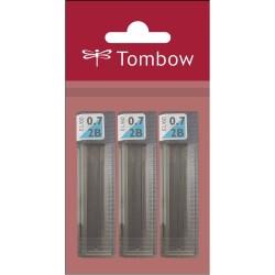 Tombow - Tombow Mono Lead Uç 0.7mm 12uç-Tüp Paketli 3ad 2b