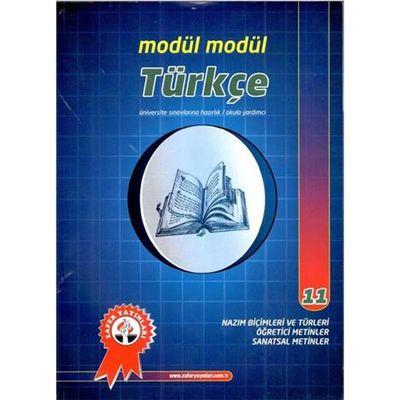 Türkçe Modül Modül 11 Nazım Biçimleri ve Türleri Zafer Yayınları